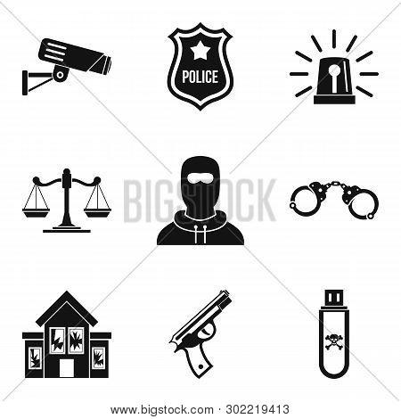 Safeguarding Icons Set. Simple Set Of 9 Safeguarding Icons For Web Isolated On White Background