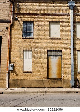 Old Run Down Brick Building