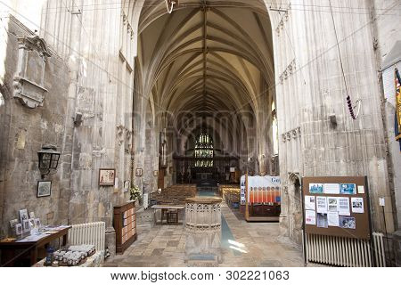 A View Of The Interior And Nave Of Crowland Abbey, Lincolnshire, United Kingdom - 27th April 2013