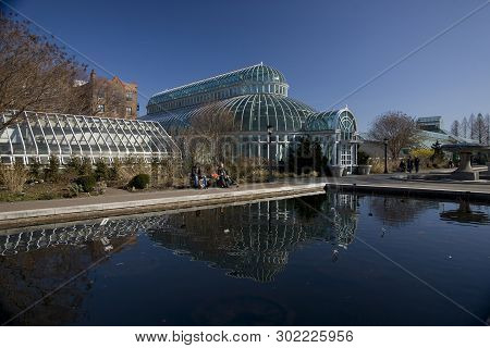One Of The Glasshouses At The Brooklyn Botanic Garden In Brooklyn, New York, United States Of Americ