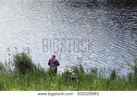 Fisherman On Shore