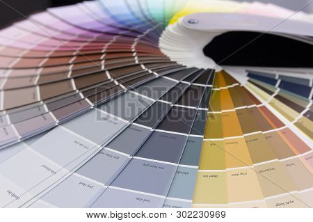 Colorful Mesh Color Gradation Close-up. Color Wheel For Choosing Paint Tone