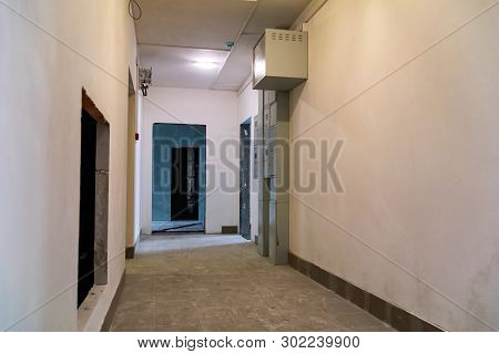 View Of Corridor Of Apartment Building Under Construction