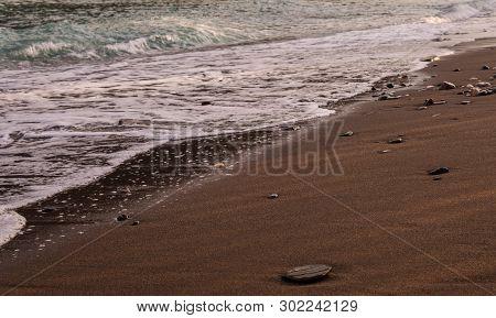 Background Sea, Ocean. Ride The Waves In The Ocean