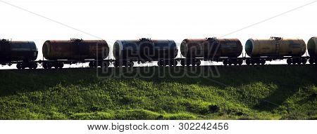 Freight Train With Tank Cars