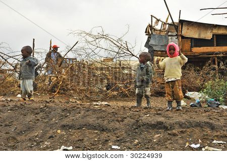 Young poor children Kenya