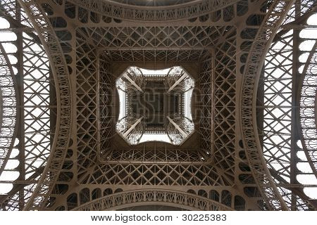 Eiffel Tower Viewed From Underneath
