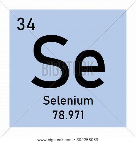 Illustration Of The Periodic Table Selenium Chemical Symbol
