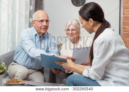Senior Couple Planning Their Investments