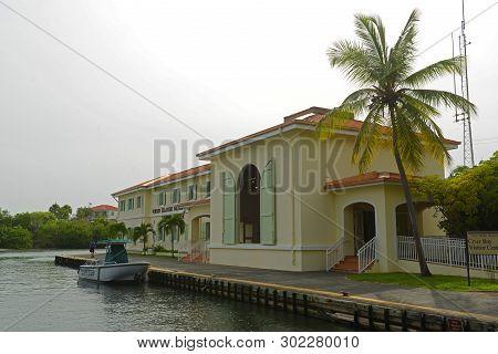 Virgin Islands, Usa - Jun 3, 2014: Virgin Islands National Park Visitor Center At Saint John Island,