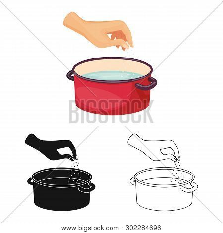 Isolated Object Of Casserole And Water Symbol. Collection Of Casserole And Arm Stock Symbol For Web.