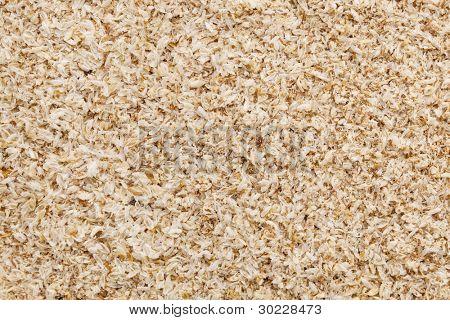psyllium seed husks - dietary supplement, source of soluble fiber, macro texture background