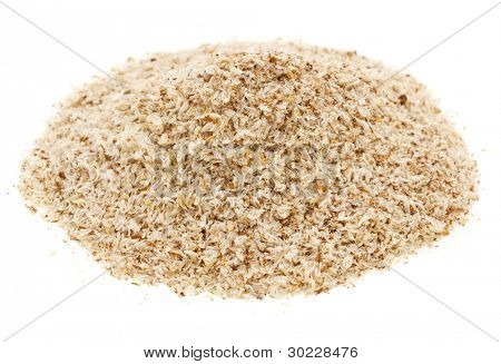 a pile of psyllium seed husks,dietary supplement, source of soluble fiber