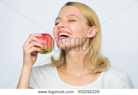 Woman Hold Apples. Baking Apple Pie. Delicious Recipes. Fresh And Juicy Snack. Girl Live Healthy Lif