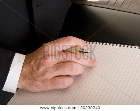 Hands - Businessman Writing