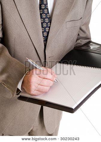 Fashion - Men - Businessman Taking Notes
