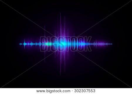 Wave Amplitude Of Sound. Design For Poster, Flyer, Banner, Website. Vector Equalizer Design For Bann