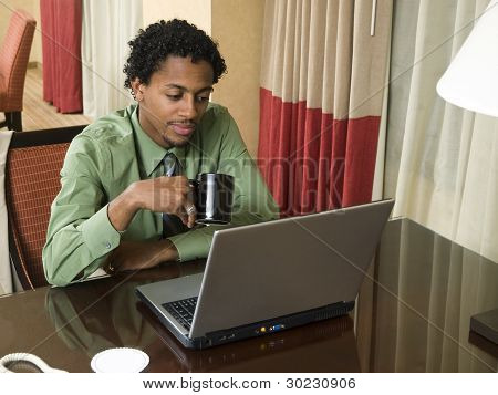 Business Trip - Laptop Businessman