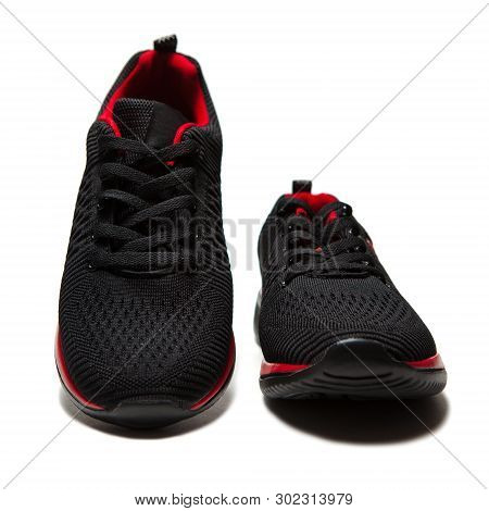 Sport Black Sneakers Isolated On White Background