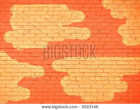 Brickwork With Yellow Spots