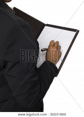 Businesswoman - Taking Notes