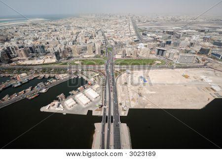 Floating Bridge Leading To Deira In Dubai