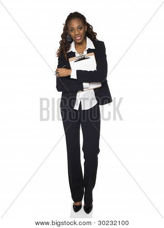 Businesswoman - Clipboard