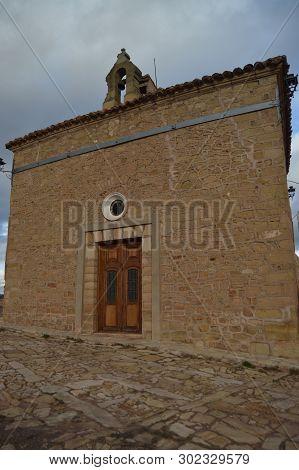 Main Facade Of The Emita De La Dolorosa. History, Travel, Nature, Landscape, Vacation, Architecture.
