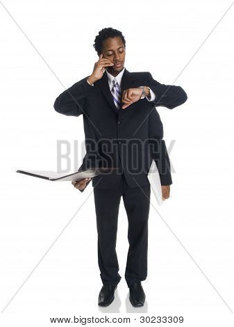 Businessman - Busy Multitasker