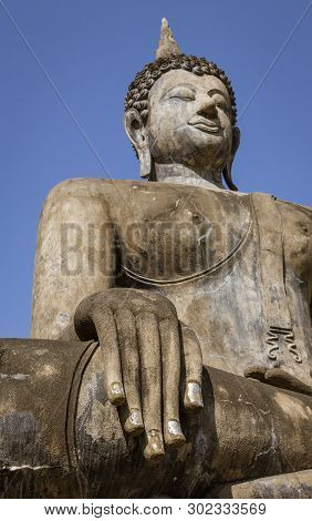 The Giant Buddha At Ayuthaya, Sukothai Thailand