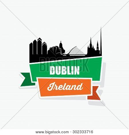 Dublin Skyline - Vector Illustration - Vector