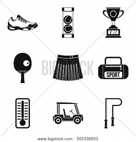 Sport Workout Icons Set. Simple Set Of 9 Sport Workout Icons For Web Isolated On White Background