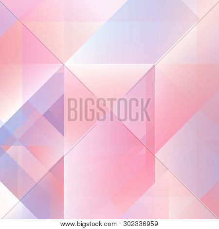 Abstract Geometric Background With Soft Pastel Colors