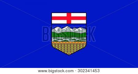 Vector Flag Of Alberta Province Canada.calgary, Edmonton