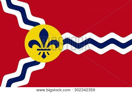 Saint Louis Official Flag, Missouri State, United States Of America. Gateway Of The West, The Lou, R
