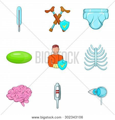 Dispensary Icons Set. Cartoon Set Of 9 Dispensary Icons For Web Isolated On White Background