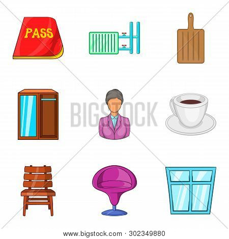 Farmstead Icons Set. Cartoon Set Of 9 Farmstead Icons For Web Isolated On White Background