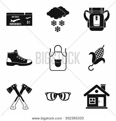 Unforgettable Vacation Icons Set. Simple Set Of 9 Unforgettable Vacation Icons For Web Isolated On W