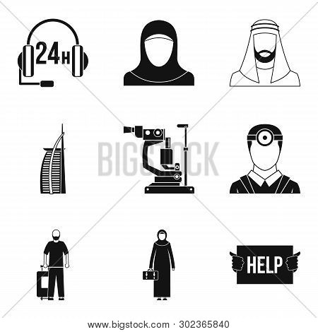 World Personnel Icons Set. Simple Set Of 9 World Personnel Icons For Web Isolated On White Backgroun