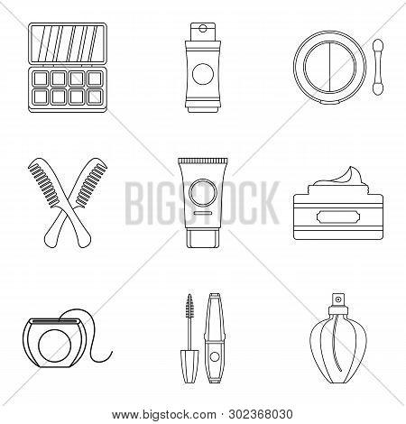 Backwashing Icons Set. Outline Set Of 9 Backwashing Icons For Web Isolated On White Background