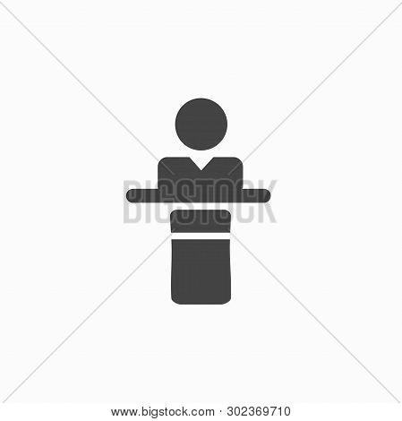 Speaker, Spokesperson, President Speech Icon. Vector Sign Symbol On White Background - Vector