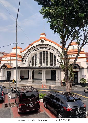 Jakarta, Indonesia - April 17, 2019: Gedung Filateli Jakarta (jakarta Philatelic Office) In Pasar Ba