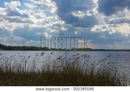 Beautiful Spring Landscape At The Holy Lake, Ivanovo Region.