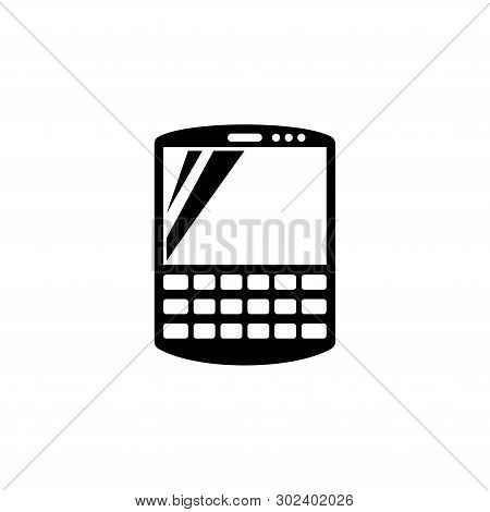 Smart Communicator, Pda. Flat Vector Icon Illustration. Simple Black Symbol On White Background. Sma