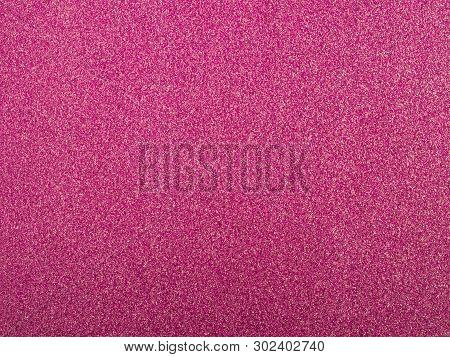 Pink Sequin Background. Pink Violet Sparkle Background. Holiday Abstract Glitter Background With Bli