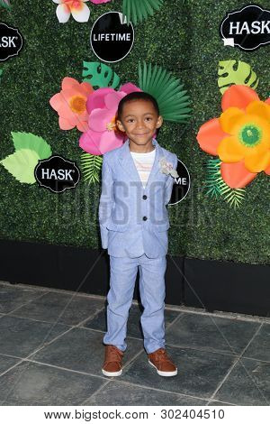 LOS ANGELES - MAY 20:  Quincy Morgan at the Lifetime TV Summer Luau at the W Hotel on May 20, 2019 in Westwood, CA