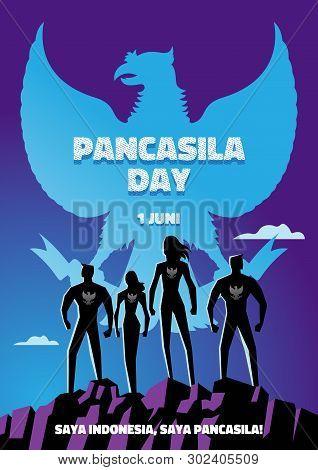 Happy Pancasila Day (selamat Hari Lahir Pancasila)