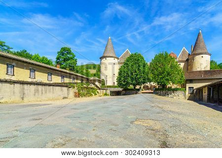 Quincie-en-beaujolais, France - May 07, 2019: View Of The Chateau De Varennes, In Beaujolais, Rhone