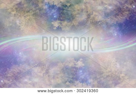 Parallel Universe Portal Background - Two Beautiful   Heavenly Galaxy Planes With Complex Cloud Form