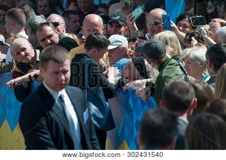 Kyiv, Ukraine 20 May 2019. Nadezhda Savchenko, Mp Leaves The Verkhovna Rada Of Kiev, Ukraine